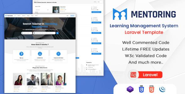 Wonderful Mentoring - eLearning, Learning Management System Laravel LMS Template with RTL (Laravel)