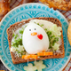 Slice of rye bread with butter and egg - PhotoDune Item for Sale
