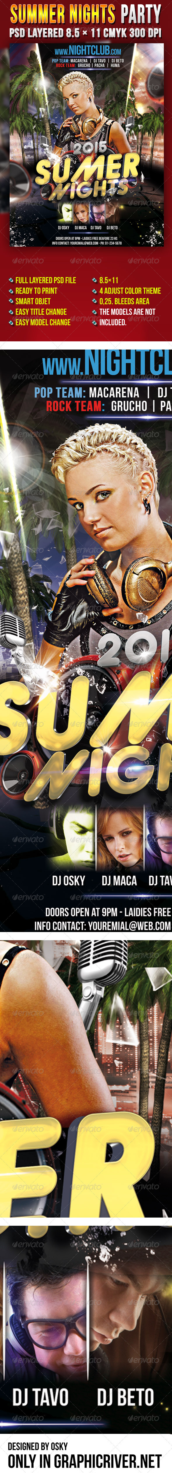 Summer Nights Party - Clubs & Parties Events
