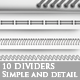10 Simple and Detail Dividers - GraphicRiver Item for Sale