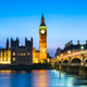 Westminster abbey and big ben in the London skyline at night, London, UK - PhotoDune Item for Sale