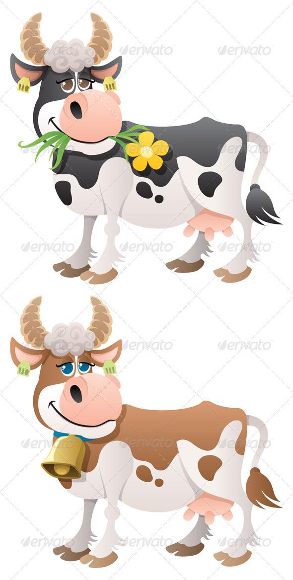 Cow - Characters Vectors