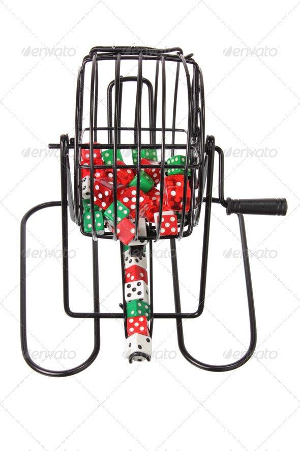 Bingo Game Cage with Dice - Stock Photo - Images