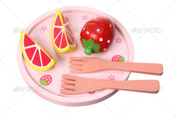 Wooden Breakfast Toys - Stock Photo - Images