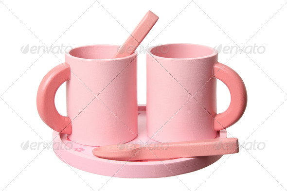 Wooden Toy Cups - Stock Photo - Images