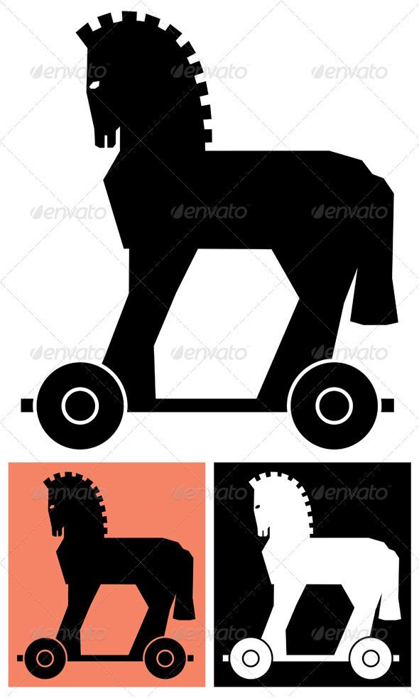 Decorative Trojan Horse - Conceptual Vectors