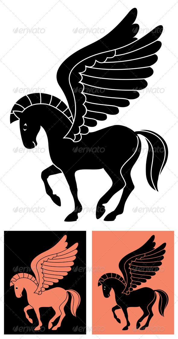 Decorative Pegasus - Decorative Symbols Decorative