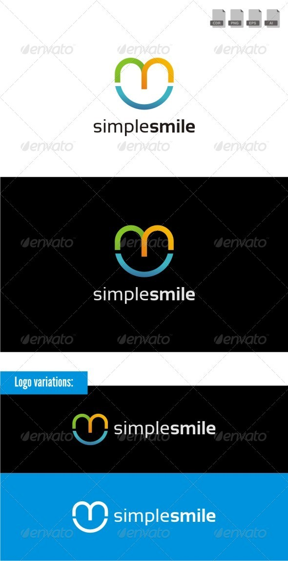 Simple Smile - Symbols Logo Templates