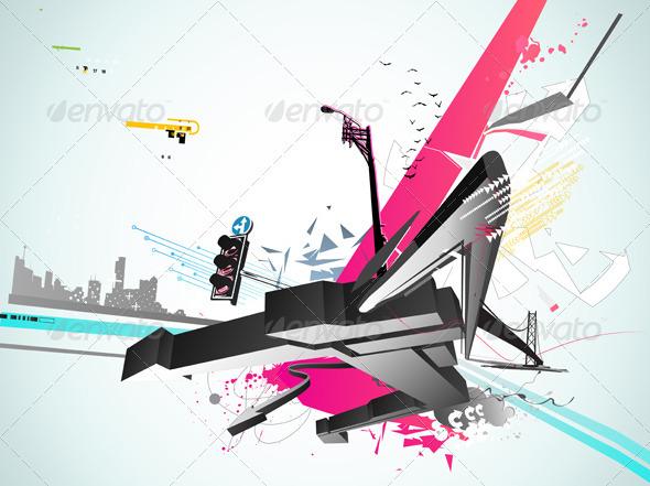 Urban background - Backgrounds Decorative