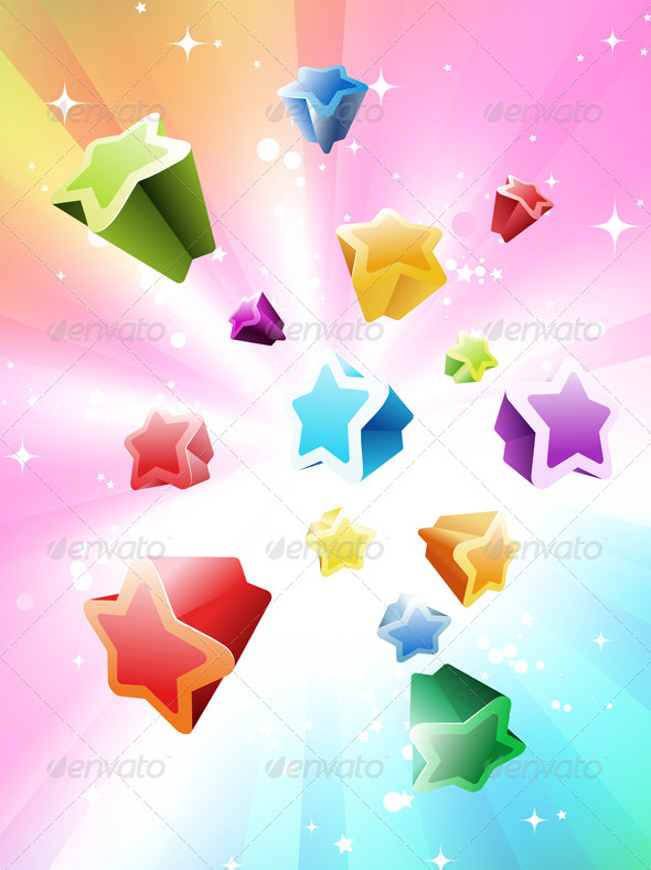 Colorful Stars Background - Seasons/Holidays Conceptual