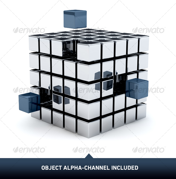 Metal Cubes 01 - Objects 3D Renders