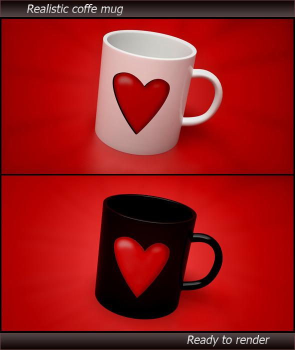 Realistic Coffe Mug  - 3DOcean Item for Sale
