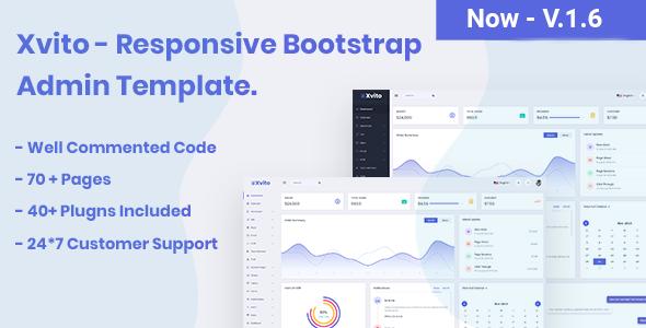 Xvito - Responsive Bootstrap Admin Dashboard Template