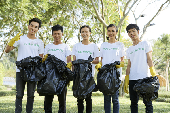 Young people volunteering - Stock Photo - Images