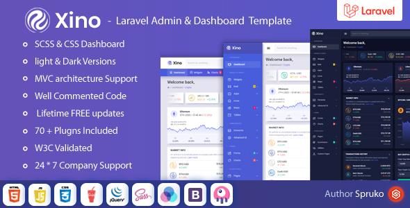 Xino – Laravel Crypto Admin & Dashboard Template