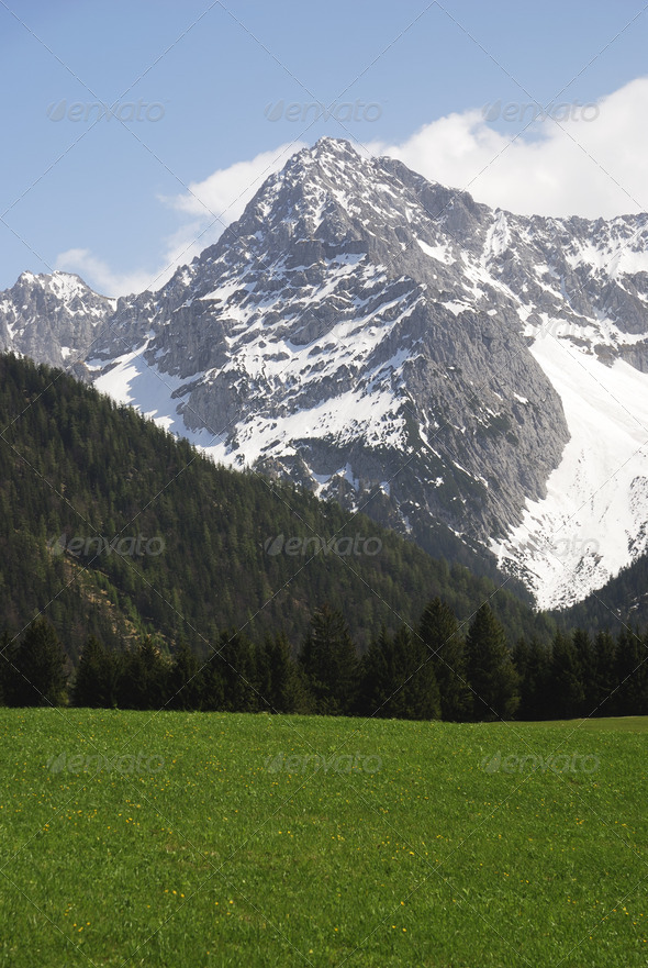 Karwendel Mountains - Stock Photo - Images