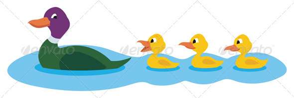 Ducks - Characters Vectors