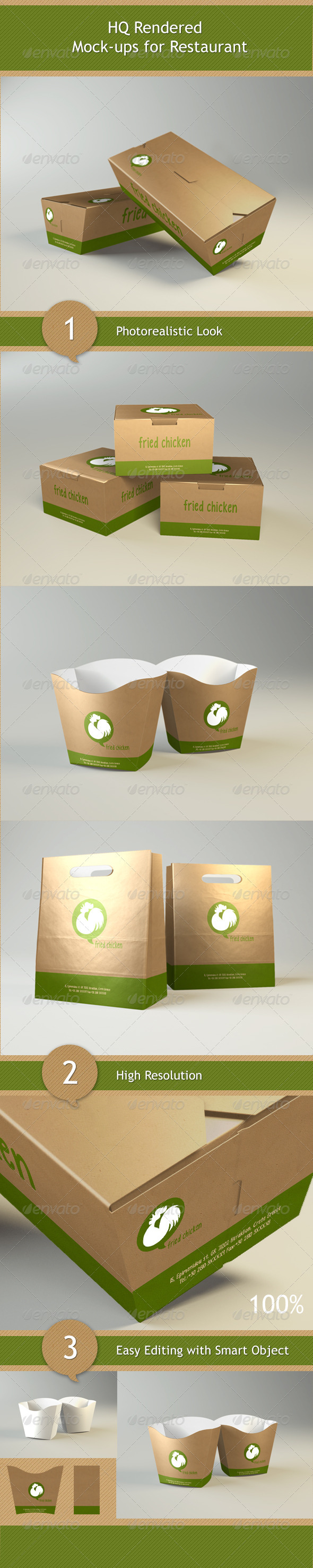 Mock-ups for Restaurant - Food and Drink Packaging