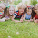 Row of kids - PhotoDune Item for Sale