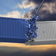 Shipping containers crashed on sky at sunset background. 3d illustration - PhotoDune Item for Sale