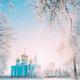 Village Krasnoe, Gomel Region, Belarus. Old Orthodox Church Of The Assumption At Sunny Winter Snowy - PhotoDune Item for Sale