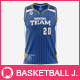 Men's Wishbone Collar Basketball Jersey Mockup