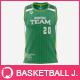 Men's Round Collar Basketball Jersey Mockup