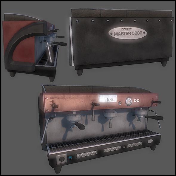 Espresso Machine - 3DOcean Item for Sale