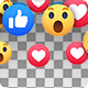 Facebook Reaction Transitions - 18 Clips - VideoHive Item for Sale