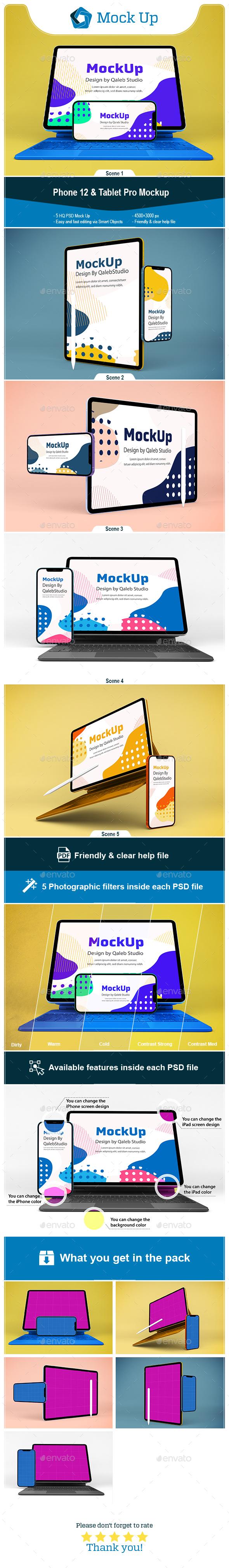 Phone 12 & Tablet Pro Mockup