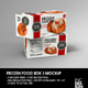 Retail Frozen Long Food Box Packaging Mockup