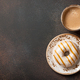 Cup of coffee and caramel donut - PhotoDune Item for Sale