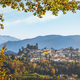 Barga village at sunset in autumn. Garfagnana, Tuscany, Italy. - PhotoDune Item for Sale