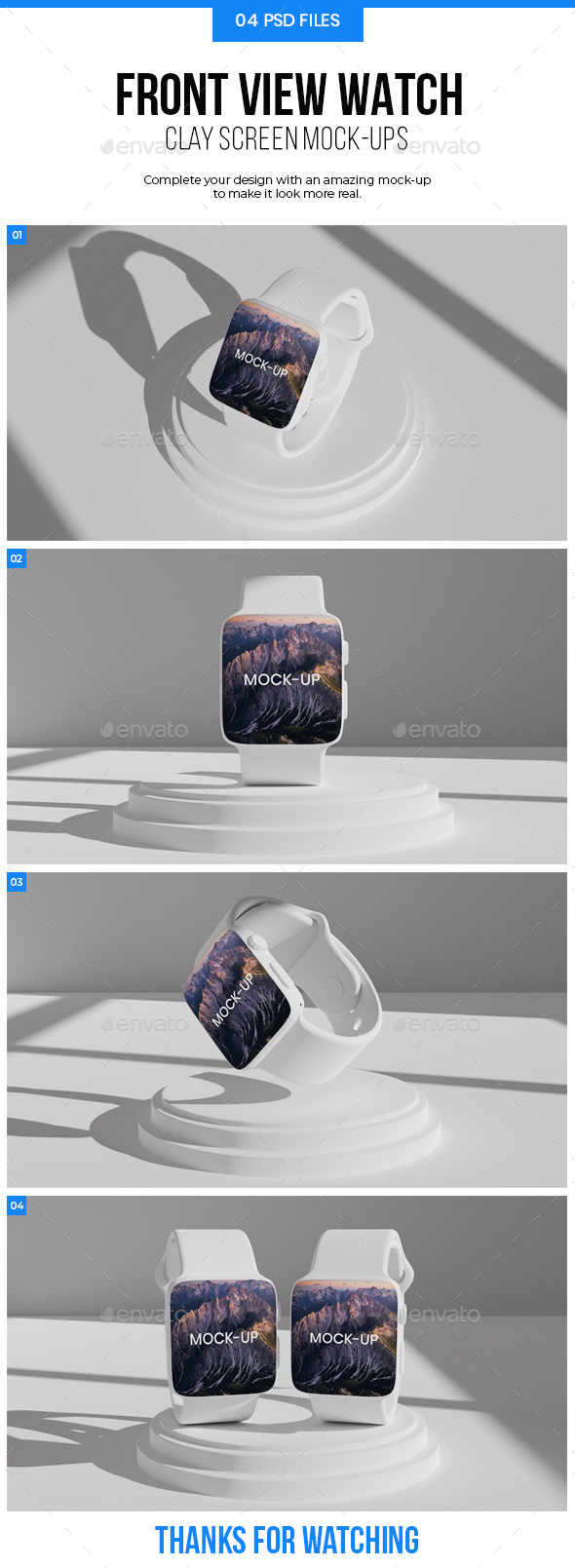 Clay Watch Mockup