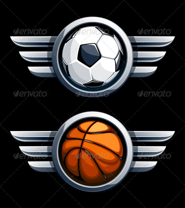 Basketball and soccer balls - Sports/Activity Conceptual