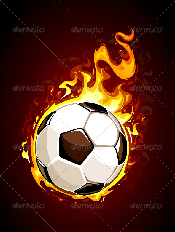 Burning soccer ball - Sports/Activity Conceptual