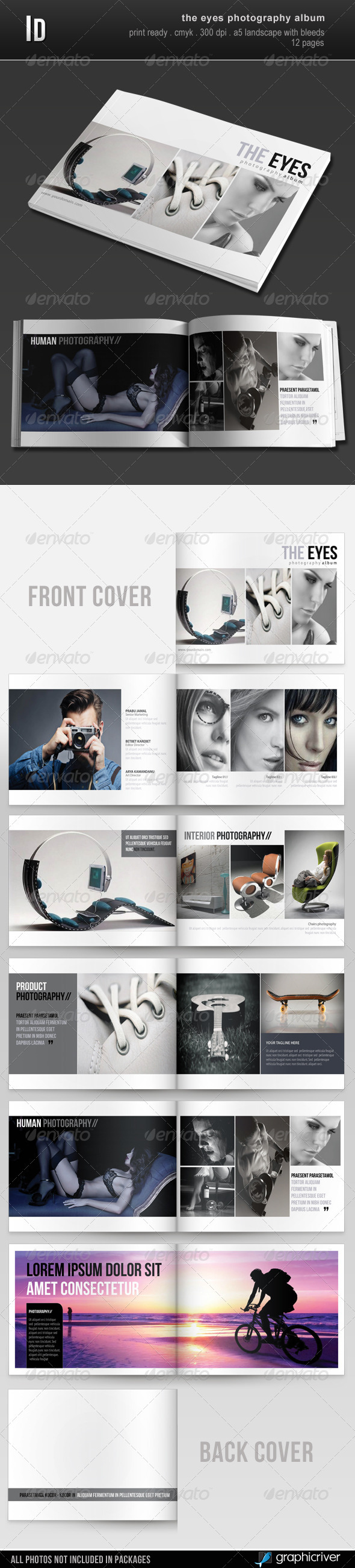 The Eyes Photography Album - Photo Albums Print Templates