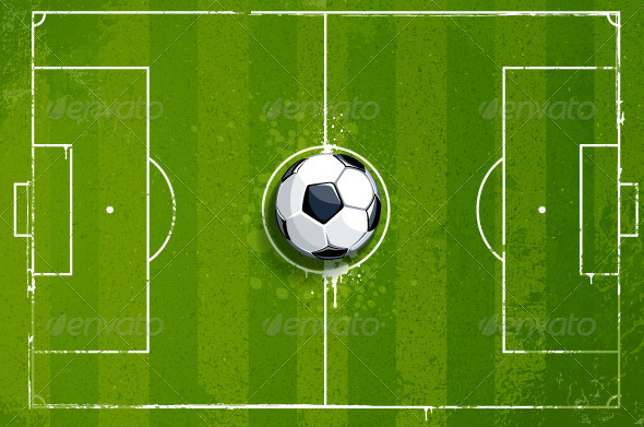 Grunge soccer playing field - Sports/Activity Conceptual