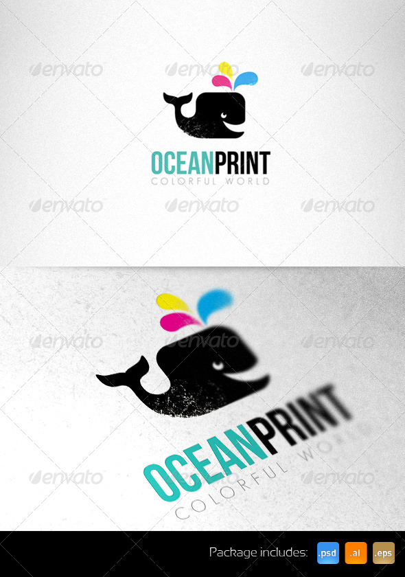 Print Studio Bright Logo Template - Animals Logo Templates