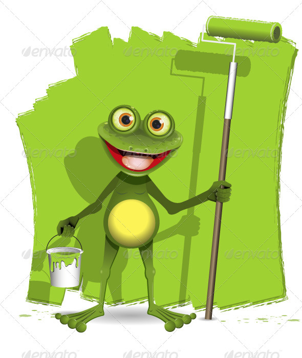Frog painter  - Animals Characters