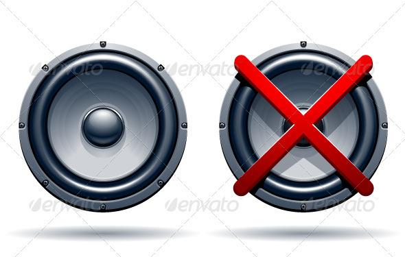 On off mode speakers - Vectors