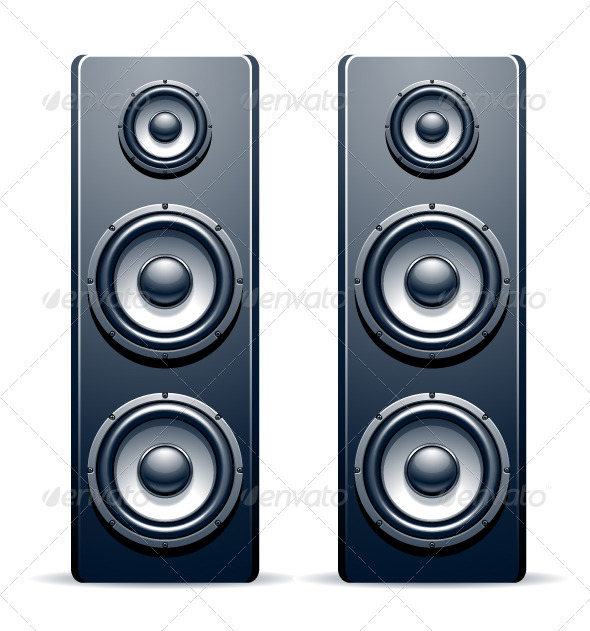Two audio speakers - Vectors