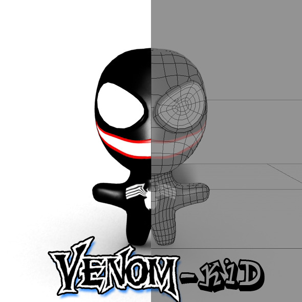 Venom-kid Model - 3DOcean Item for Sale