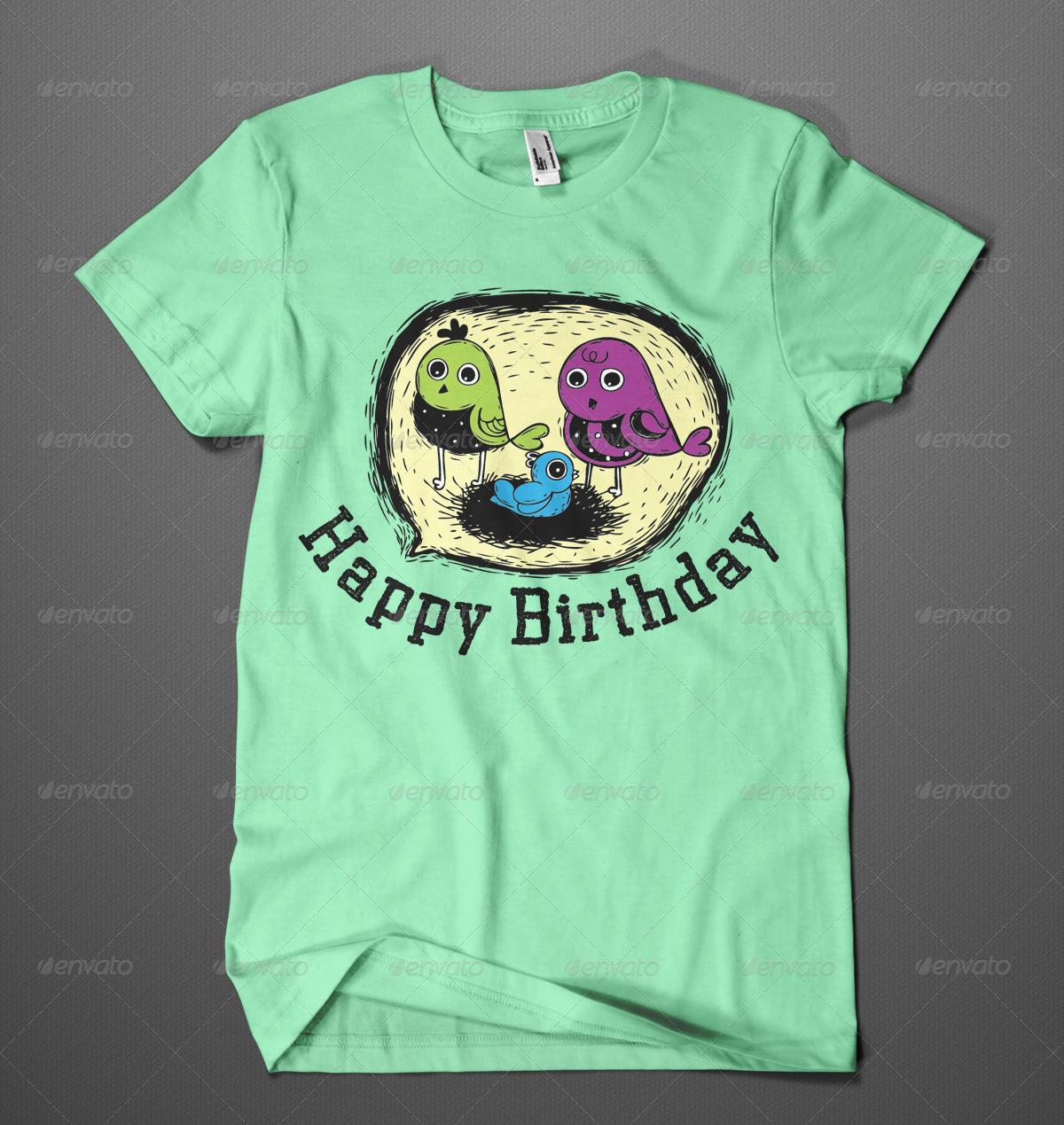 Happy Birthday T Shirt Design