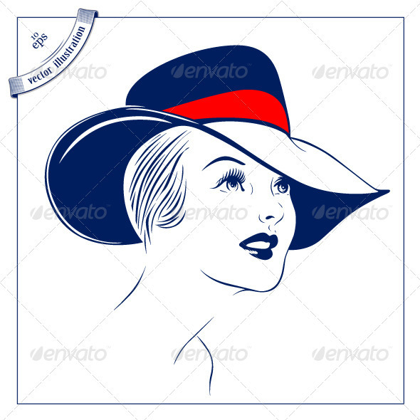Women With The Hat.  - People Characters