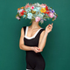 Anonymous woman in flower hat - PhotoDune Item for Sale