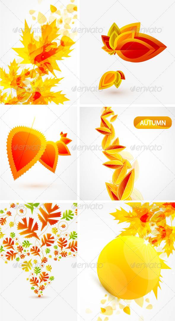 Vector Autumn Backgrounds  - Flowers & Plants Nature