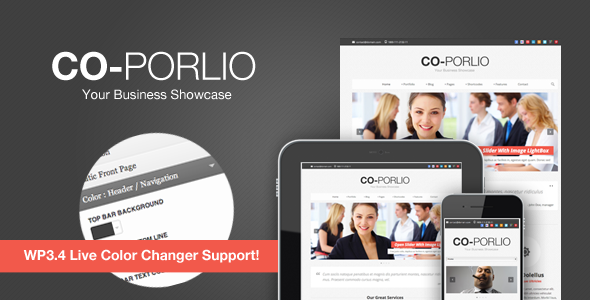 Co-Porlio: Feature Rich WordPress Theme