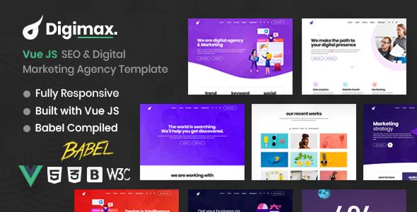Vue JS SEO & Digital Marketing Agency Template – Digimax