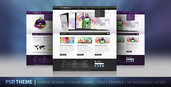 Bohio Studio PSD - Creative PSD Templates
